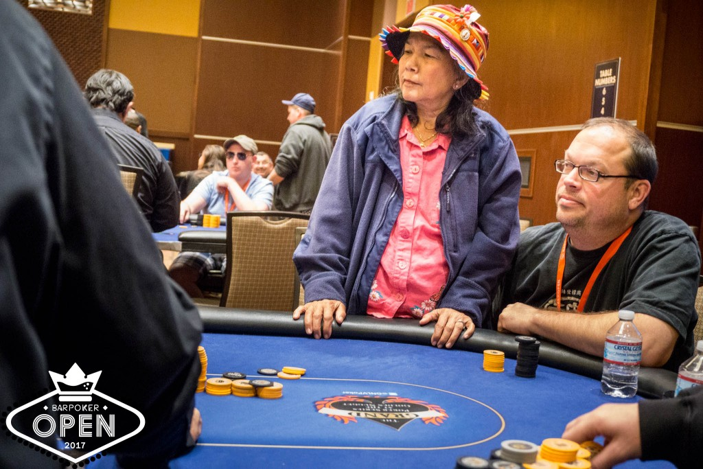 Gail Webster (Eastern Poker Tour) waits to see her fate