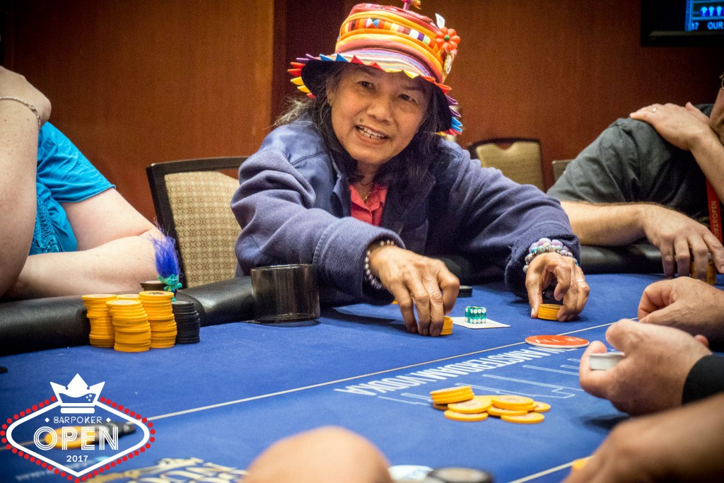 Gail Webster (Eastern Poker Tour) moves all in on the money bubble