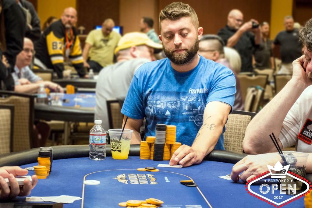 Nick Sims (Eastern Poker Tour) making his decision
