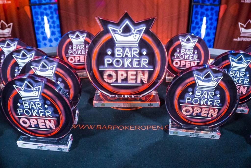 Bar Poker Open trophies